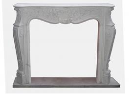 Fireplace in Marmo Bianco di Carrara F-0091-LB