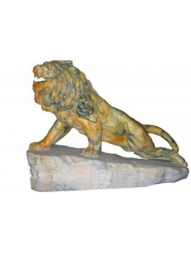 Statue – Leone in Mamo Giallo Broccatello di Siena