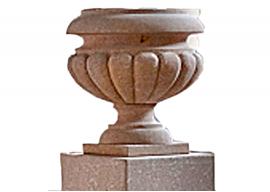 Vase In Pietra Gialla di Vicenza Levigata V-003-A
